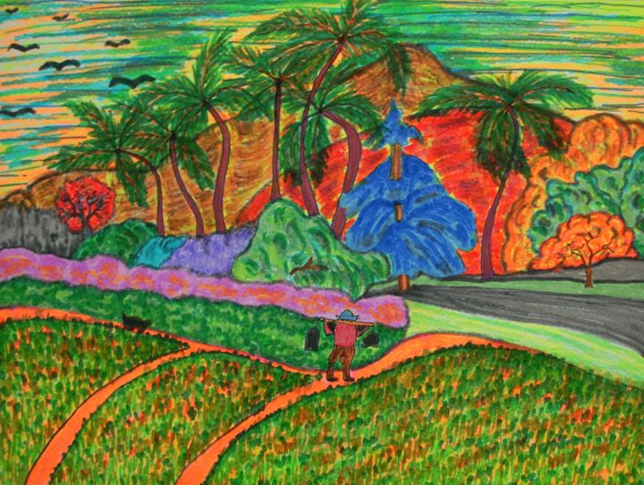 Tahitian Landscape - George Hunter Contemporary Artist
