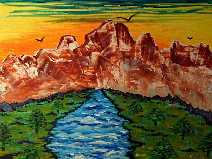 The Metamorphic Mountains - George Hutton Hunter Contemporary Artist