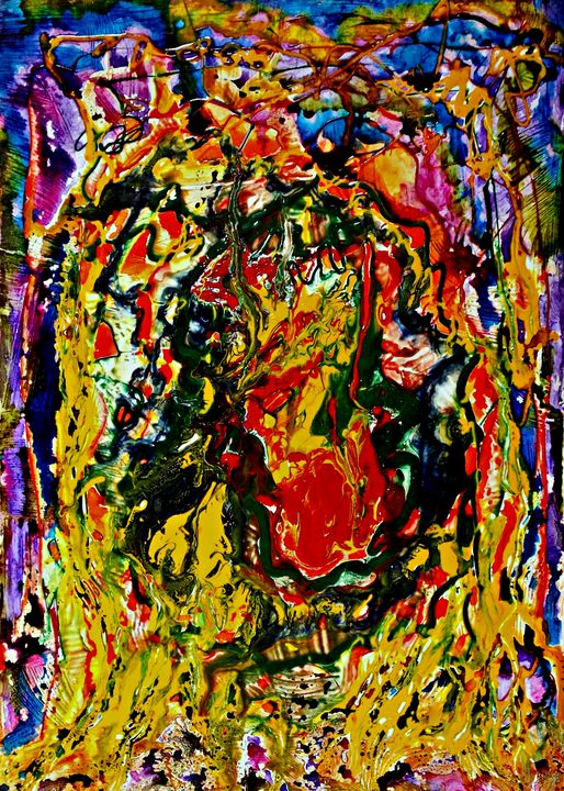 Face of the Plant God - George Hutton Hunter Contemporary Artist