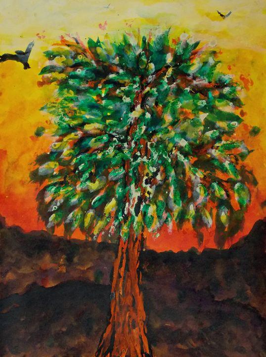 Tree at sunset - George Hutton Hunter Contemporary Artist