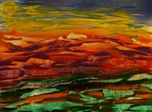Sunset melts over landscape