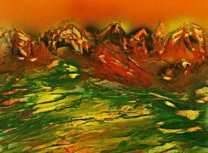 Greening mountain landscape