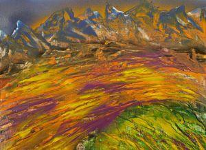 Sunlight on mountain plateau