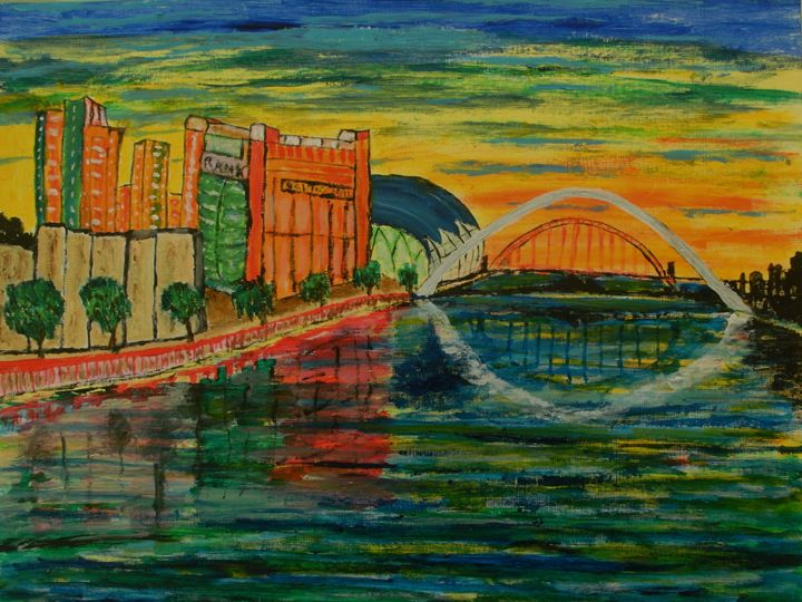 Gateshead Quayside - George Hunter Contemporary Artist