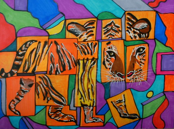 Dissected Tiger - George Hunter Contemporary Artist