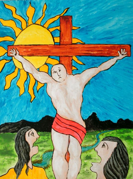 The Crucifixion - George Hunter Contemporary Artist