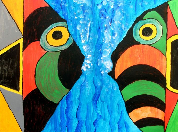 Fish in Concersation - George Hunter Contemporary Artist