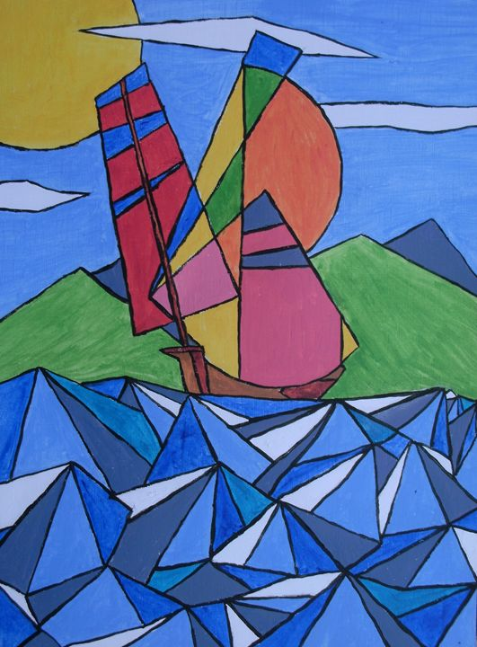Sailing on the waves - George Hunter Contemporary Artist
