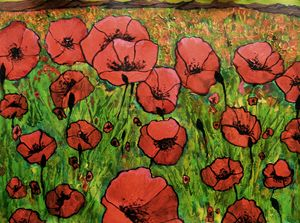 Red Poppies in field
