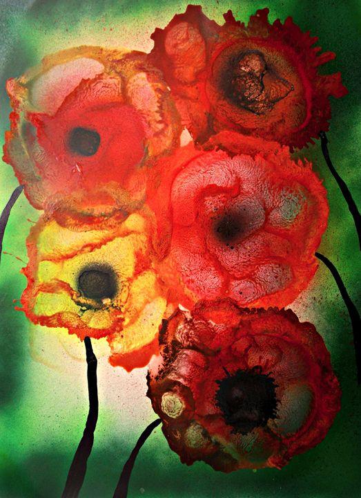Fiori astratti in fiore - George Hunter Contemporary Artist