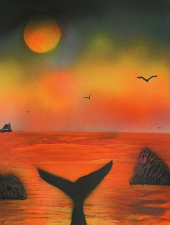 The Sunset of the Whale - George Hunter Contemporary Artist