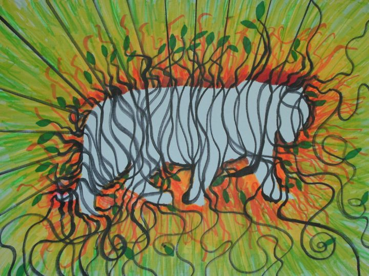 Tiger Ghost - George Hunter Contemporary Artist