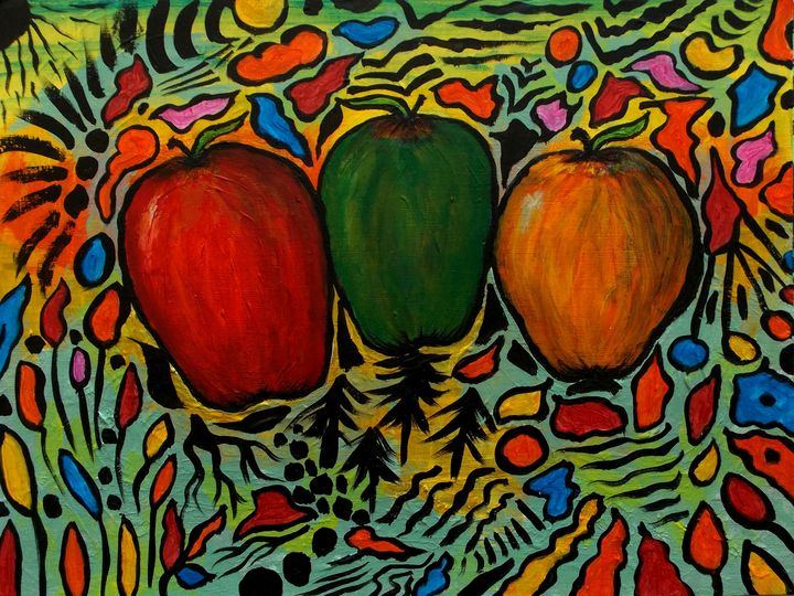 Three Apples - George Hunter Contemporary Artist