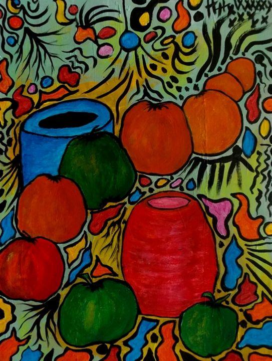 Vasi con frutta - George Hunter Contemporary Artist