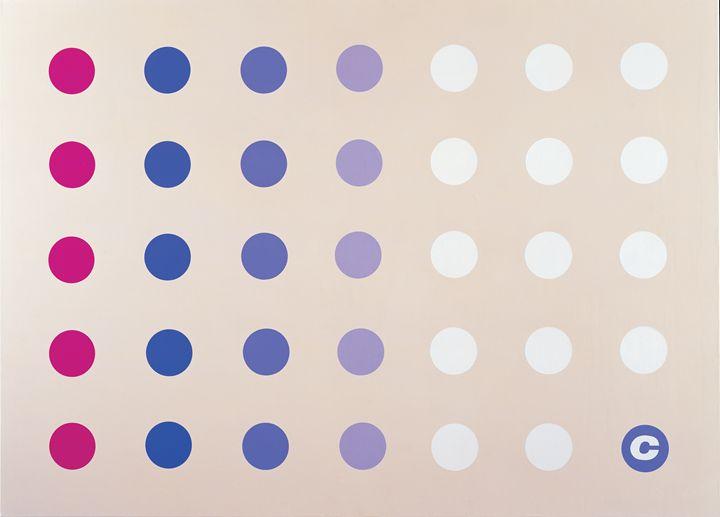 Dots on canvas - Claus Spanner Elmholt