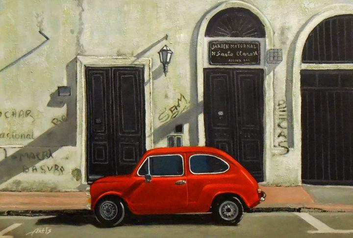 """A RED CAR"" - arthuris"