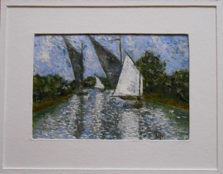 """Sails On The Lake"" Impressionisme - arthuris"
