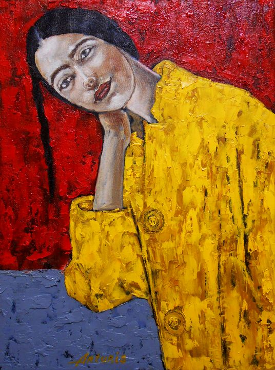 """""""Woman in yellow"""" / SOLD - arthuris"""