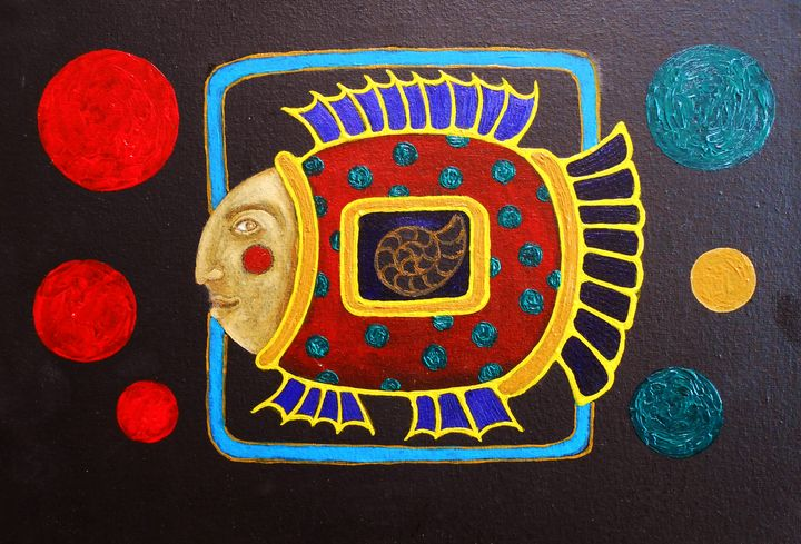 "Painting ""Man-Fish"" - arthuris"