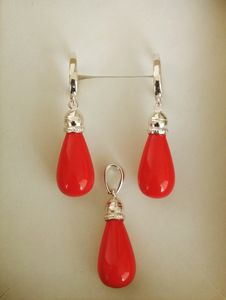 Handmade silver set with corals