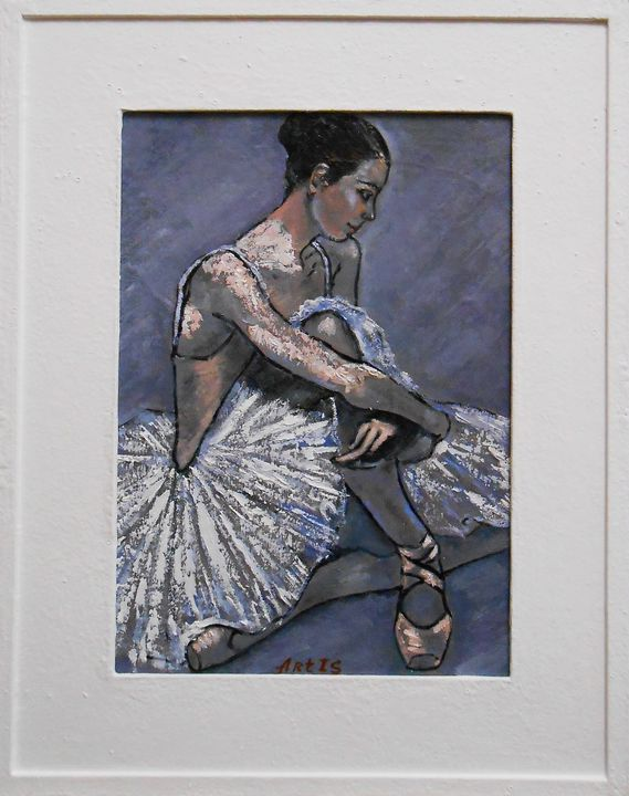 """Painting with frame""""Ballerina (XIII) - arthuris"""