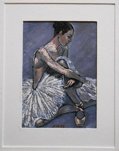 "Painting with frame""Ballerina (XIII)"