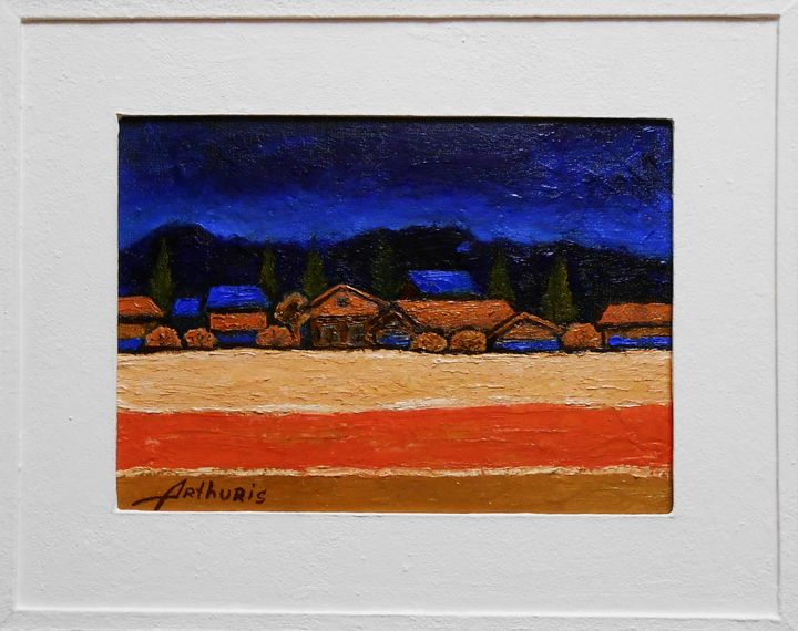 "Painting with frame ""Night landscape - arthuris"
