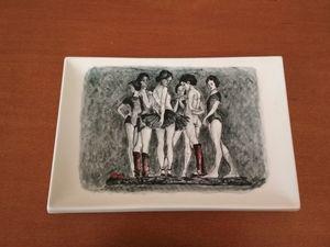 "Handmade plate ""Casting"""