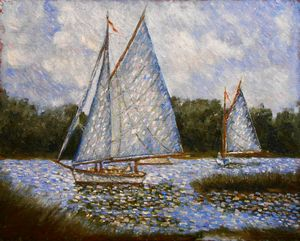 """Sails on the lake"""