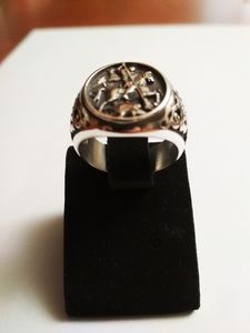 Silver men's ring