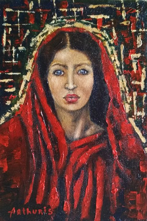 """""""Portrait of a woman in a red shawl"""" - arthuris"""