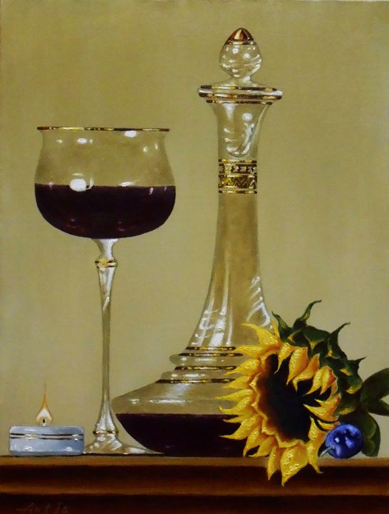 """STILL LIFE WITH A RED WINE"" - arthuris"