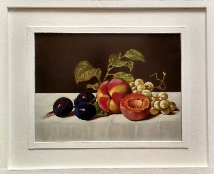 """""""STILL LIFE WITH GRAPES PEACHES AND - arthuris"""