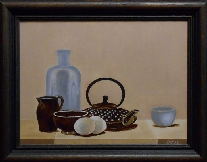 """STILL LIFE WITH A COFFEE POT, KITCH - arthuris"