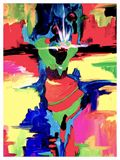 A colorful abstract of a Caribbean d