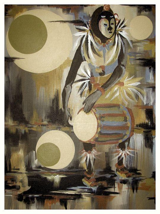 Nigerian Drummer Dancer-L - Rod Johnson