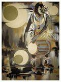 This Nigerian drummer dancer painted