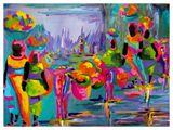 A colorful portral of a caravan retu