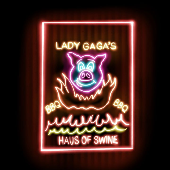 Lady Gaga's Haus Of Swine Neon Print - Clayton Daugherty