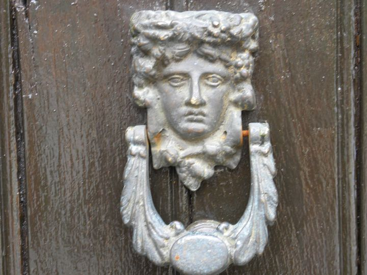 Door knocker - Crimson Inspirations by Sue E.