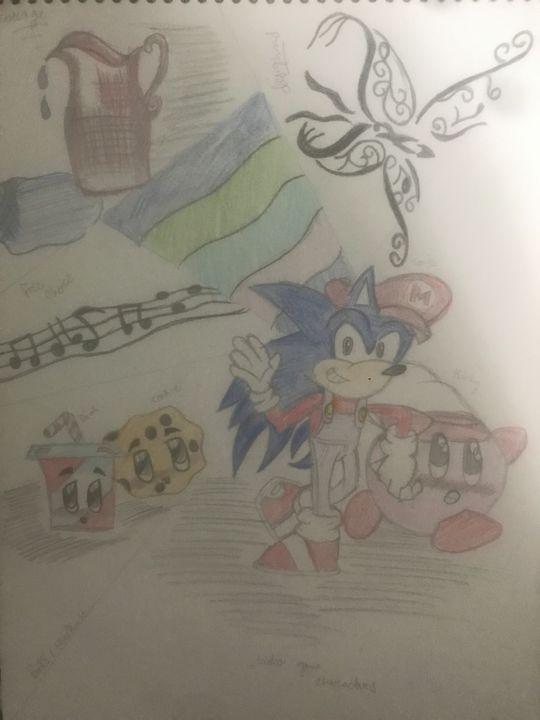 Sonic the hedgehog - Collage - Duaa