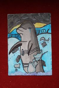 polluted dolphin