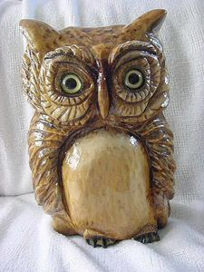 """""""Mr. Who"""" Wooden Owl - DryRiver Carvings and Art"""