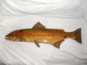 Wooden Rainbow Trout #18