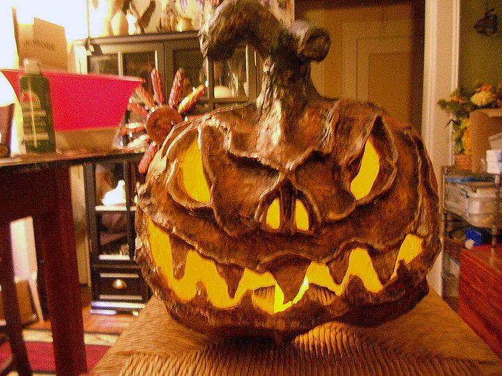 Pumpkin in Metals - DryRiver Carvings and Art