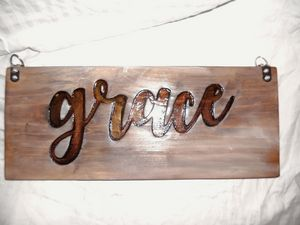 Wooden 2 sided Sign
