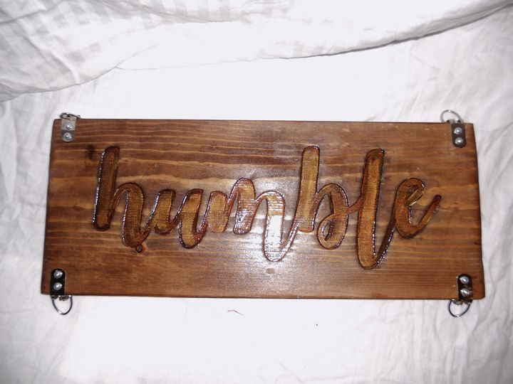 Wooden 2 sided sign - DryRiver Carvings and Art