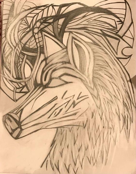 Abstract wolf - YaBeachgrl.art