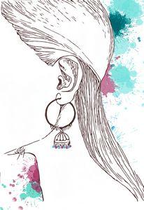 Jhumka - Traditional Indian earring