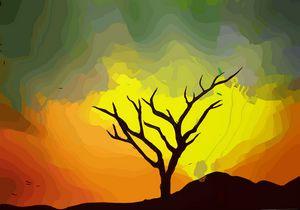 Landscape art - Single tree